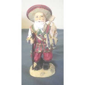 Pancho Navidad Mexico Resin Figurine 4 3/8 In EC